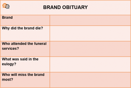 Obituary exercise